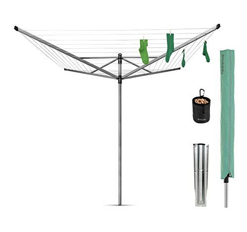 Brabantia Lift-O-Matic Rotary Airer with Accessories, 50 m -