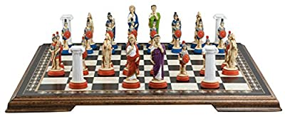 Ancient Roman Chess Set - Handmade and Hand Painted - 4 Inches