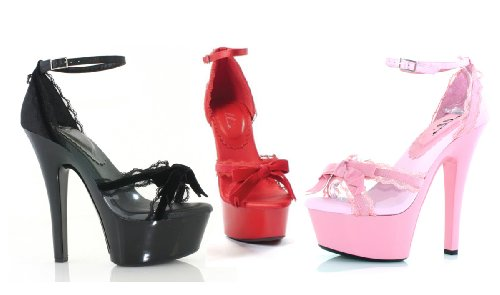 Scarpe Ellie Donna 601-erika, Sandalo Con 6 Tacco Rosa