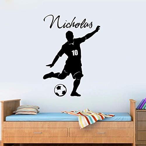Nuevo balón de fútbol personalizada con nombre y número de Vinilo ...