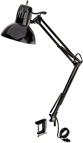 Globe Electric 32'' Multi-Joint Desk Lamp with Metal Clamp, Black Finish, 56963 by Globe Electric