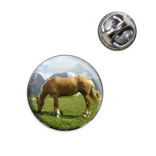 (Grazing Haflinger Horse Lapel Hat Tie Pin Tack)