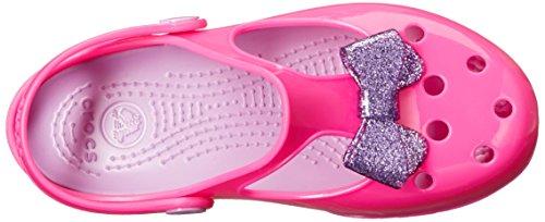 b22b529f244d2b Crocs Carlie Glitter Bow Mary Jane Carlie Glittle Clog (Toddler ...