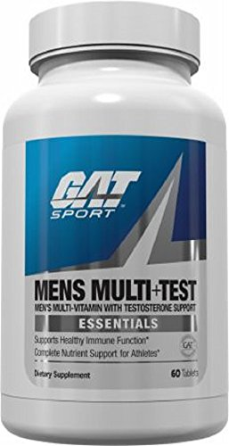 GAT Men's Multi + Test, Premium Multivitamin and Complete Testosterone Boosting Support with Tribulus Terristis