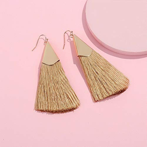 Tomikko Women Fashion Bohemian Earrings Vintage Long Fringe Tassel Boho Dangle Earrings | Model ERRNGS - 11291 |