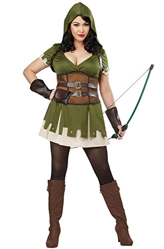 California Costumes Lady Robin Hood Plus Size Costume-3XL
