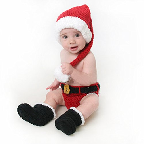 Baby Santa Costume Cloth Set For One Year Old (Black-Shoes) (Jovi Elf Costume)
