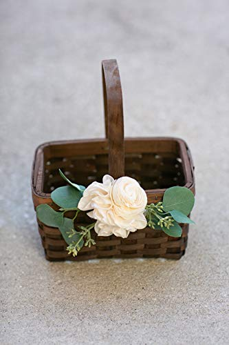 Brown Flower Girl Basket