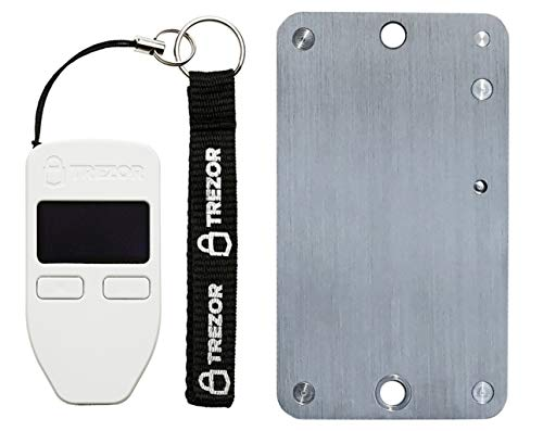 Trezor White Cryptocurrency Wallet & SteelWallet Indestructible Hardware Wallet Backup (2 Items Bundle)