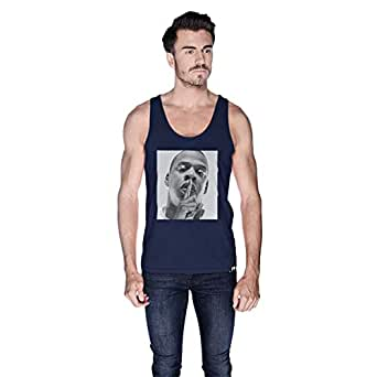 Creo Jay Z Tank Top For Men - S, Navy Blue