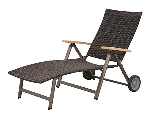 Siena Garden 120179 Rollliege Aros Aluminium-Gestell bronze Gardino®-Geflecht maron Armlehnen Teak FSC® 100%