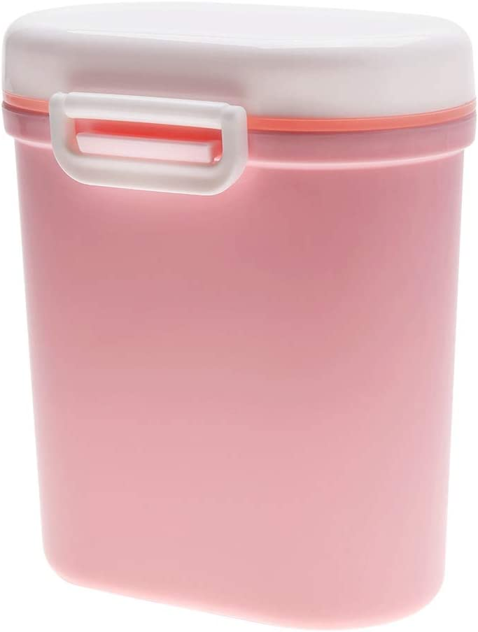 PP Kids Lightweight Container Infant Formula Candy Fruit Sorter Box Toys Storage Canister for Outdoor Travel Pink Large Baby Milk Powder Dispenser