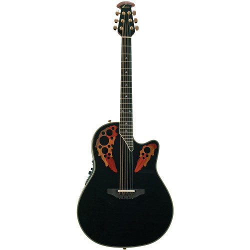 (Ovation AX Series 2078AX-5 Acoustic-Electric Guitar, Black)
