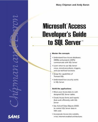 Microsoft Access Developer's Guide to SQL Server (Professional) by Andy Baron (13-Dec-2000) Paperback