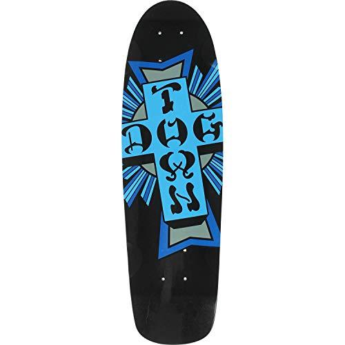 検出するポール今日DogtownスケートボードMini Crossブラック/ブルースケートボードデッキ – 7.62 CM x 26.5