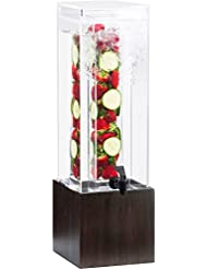 Cal Mil 1527 1INF 96 Midnight Bamboo Beverage Dispenser Infusion Chamber 17 75 Height 8 25 Width 9 75 Length Acrylic