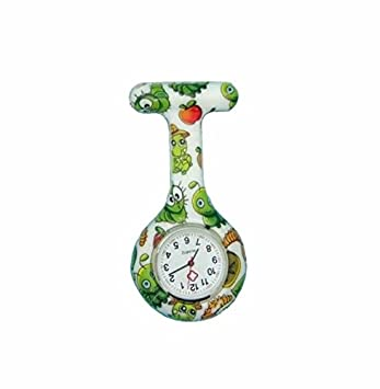 Reloj Médico Reloj Prendedor de Broche de Túnica de Paramédico Doctor Enfermera Silicón de Flores Geométricas: Amazon.es: Bricolaje y herramientas