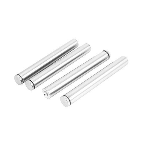 uxcell Stainless Steel Frame Nail Glass Standoff Mount Bolt Sign Support Hardware 4pcs