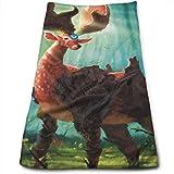 HFXFM Forest Deer Multipurpose Soft Polyester Lightweight Hand Towel for Bath, Pool, Beach, Travel Towel,Bath Sheet, 30cm X 70cm