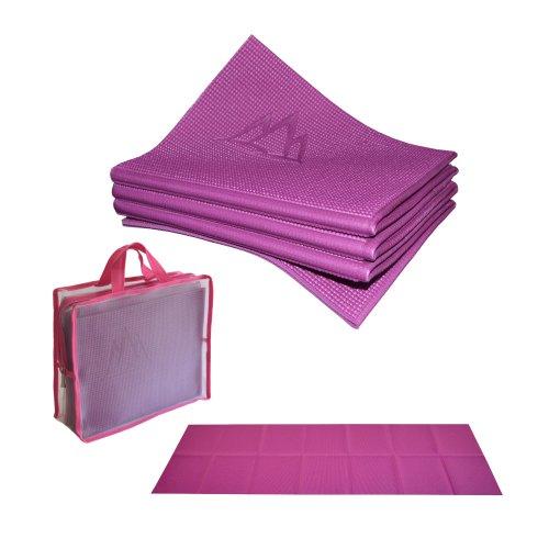 Khataland YoFoMat - Best Travel Yoga Mat - Magenta, Extra Long 72