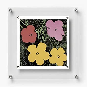 wexel art 14x14 inch be square magnetic single panel acrylic floating frame for up to