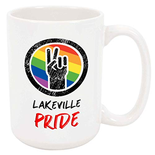 Lakeville Pride - Large 15 Ounce Coffee or Tea Mug, LGBTQ+ Gift Present Birthday Holiday Idea For Partner For Him For - Girl Lakeville