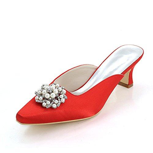 couleurs Pantoufles Mariage verges red Multi Grandes 15K hauts Talons Femmes 0723 Pompe YC L 0qZBAA