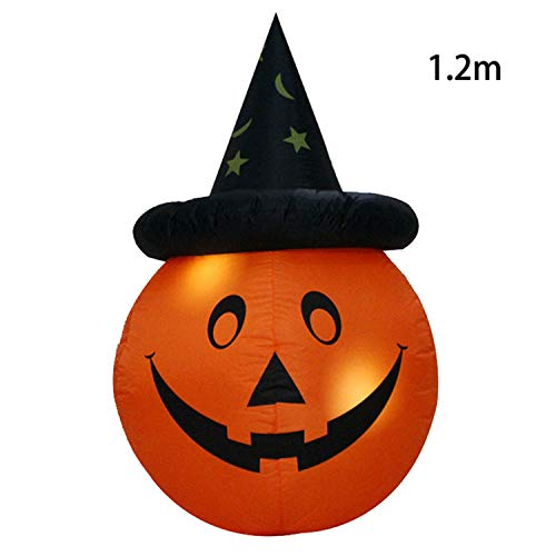 Fairy-Margot Inflatable Halloween Decorations Airblown LED Lighted Ghost Tree Pumpkins Archway Turkey Thanksgiving Spider Witch Hat for Sale,1 -