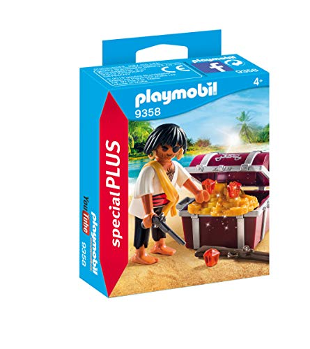PLAYMOBIL® Special Plus 9358 Pirate with Treasure Chest, Multi