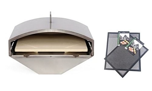 Green Mountain Grill Wood Fired Pizza Oven PLUS FREE GMG BBQ/GRILLING Mats , GMG-4023 - Wood Fire BBQ, Pellet Pizza Oven and FREE GRILLING MATS (Barbecue Wood Burning)
