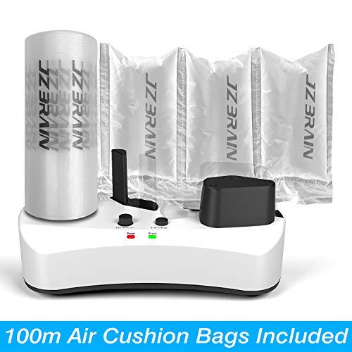 JZBRAIN Air Pillow Maker Air Making Machine Air Cushion Machine Air Packing Machine Inflatable Packaging + 100m Free Test Film Roll