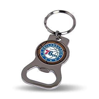 NBA Rico Industries Metal Bottle Opener Key Chain, Philadelphia 76ers