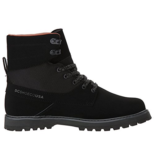 DC Men's Uncas, Black/Black/Dark Grey, 14 D D (Dc Shoes Boots)