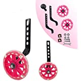 HUWAY training wheels flash mute wheel bicycle stabiliser mounted Kit compatible for bikes of 12 14 16 18 20 Inch, 1…