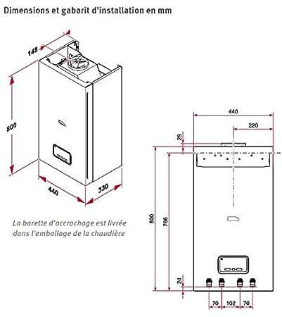 Chaudiere pared a gas baja Temperature calefacción + Ecs 25 kW conexión VMC THEMAFAST V 25 Saunier Duval Exacontrol: Amazon.es: Bricolaje y herramientas