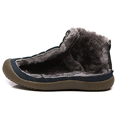 SAGUARO Herren Damen Winter Boots Outdoor Warm Gefüttert Schneestiefel Winterstiefel High top schwarz
