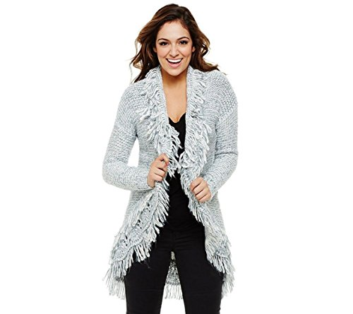 Bethany Mota Open Front Cocoon Cardigan Fringe A273792 eb7b78d40