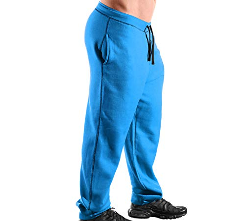 Monsta Clothing Co. Men's MMA Fight (ES:Tap Or Bleed-OOO) Gym Sweatpants (G:BL) Blue