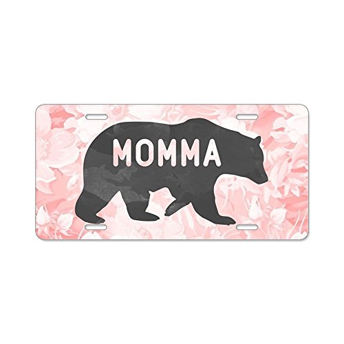 CafePress - Momma Bear - Aluminum License Plate, Front License Plate, Vanity ()