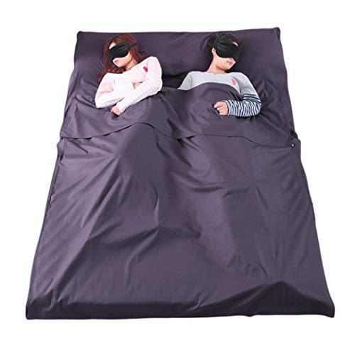 WELOVE Lightweight Warm Roomy Cotton Sleeping Bag Liner Sleep Sack Camping Travel Outdoor Picnic Travel Sheet Sleep Sack Comfortable, for Travel, Youth Hostels, Picnic, Planes, Trains 83