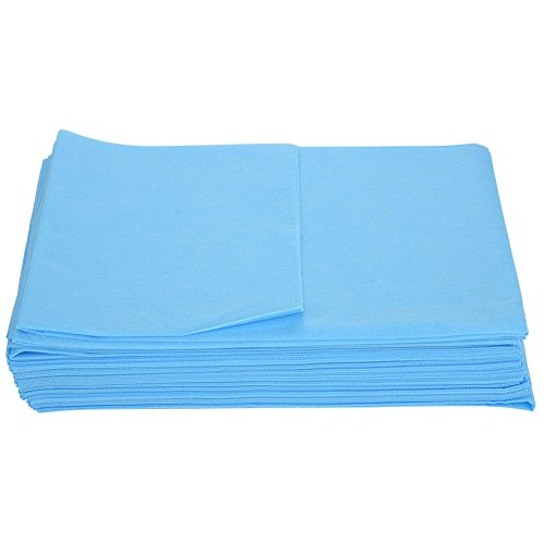 Disposable Bed Sheet, 10pcs/bag Spa Bed Sheets Beauty Salon Massage Non-Woven Waterproof Anti-oil (Blue) by ZJchao