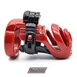 SCGOLD Funny Standard Male Chastity Device Adult Cock Cage Sex Toy Chastity Belt Sex Product Red with 40mm Spike Ring