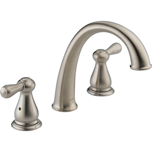 Delta Leland Widespread Bathroom Faucet (Delta Leland Widespread Stainless Steel Finish Roman Tub Faucet with Valve D916V)