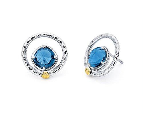 6dfa8885b Amazon.com: Tacori SE14033 Sterling Silver Island Rains Silver Bloom Gem  Stud Earrings: Jewelry