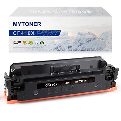 Mytoner Compatible Toner Cartridge Replacement for HP 410X CF410X CF410A 410A Toner for HP Color Laserjet Pro MFP M477fnw M477fdw M477fdn M477 M452dn M452nw M452dw M452 M377DW Printer Ink(Black,1Pk)