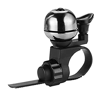 accmor Bicycle Bell, Adjustable Bicycle Bike Horns, Cycling Bike Handlebar Ring Bell Horn, Adjustable Strap up to 38mm
