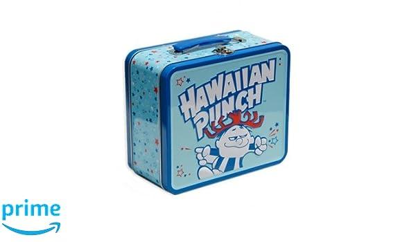 10c972be4a16 Amazon.com: Lunch Box - Hawaiian Punch - Blue Metal Tin Case ...