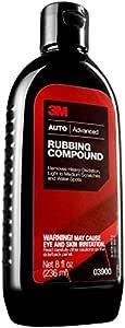 3M Auto Care Rubbing Compound, 03900, 8 oz