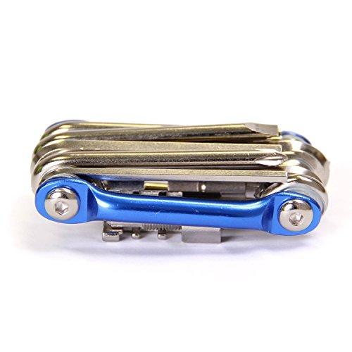 Crmo Driver (Mini Pocket Cr-mo Metallic Bicycle Repair Multitool Kit with Chain Breaker/ Hex Keys/Flat Head/Philips Screwdriver/Torx T-25 All in One Multifunction Bike Tools)