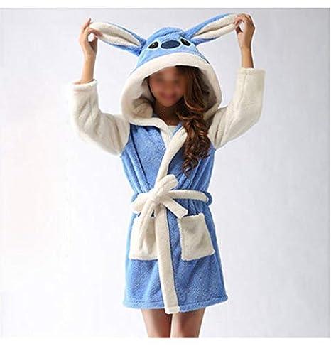 Bata de ducha súper suave/esponjosa/cómoda con una linda orejera animal para mujer Fleece Albornoz Regalo cálido para hija: Amazon.es: Ropa y accesorios